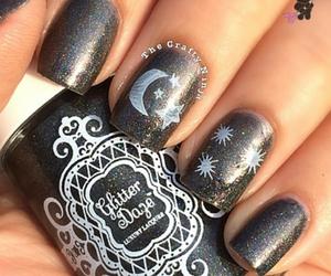 nails, night, and uñas image