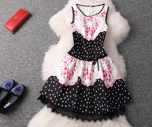 floral dress, lace dress, and fashion dress image
