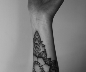 tattoo and black and white image