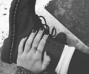 black and white, docs, and dr martens image
