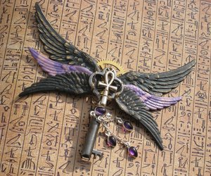ankh, key, and wings image