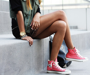 bag, style, and converse all star image