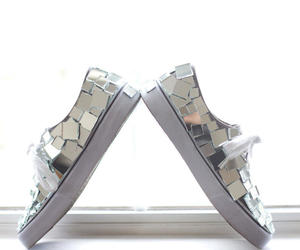 heels, mirros, and shoes image