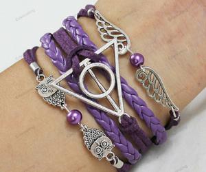 purple bracelets-cute owl image