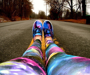 galaxy, vans, and shoes image