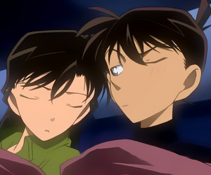 anime, detective conan, and couple image