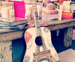guitar, paris, and music image