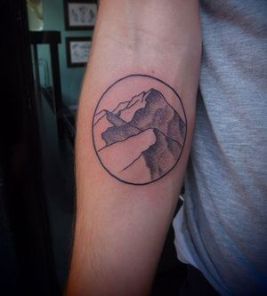 mountain and tattoo image
