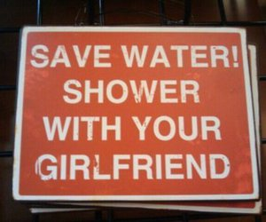 shower, water, and save water image
