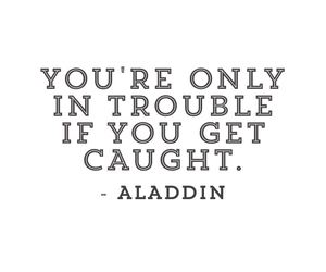 aladdin, quote, and black and white image