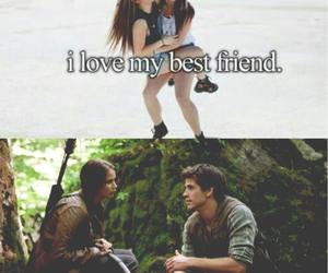 best friends, the hunger games, and katniss and gale image