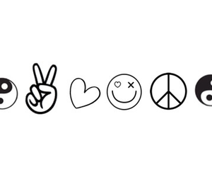 peace, love, and ying yang image