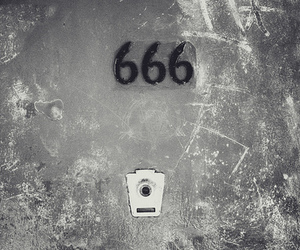 666, satan, and black and white image