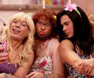 zac efron, jimmy fallon, and seth rogen image