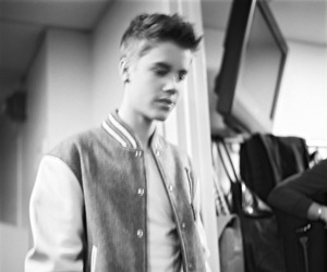 black and white, justin bieber, and beliebers image