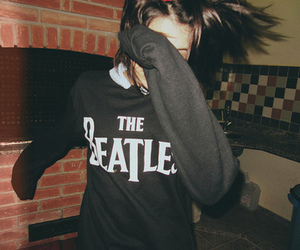 beatles, girl, and the beatle image