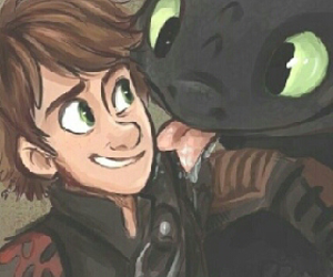 dibujo, toothless, and hiccup image