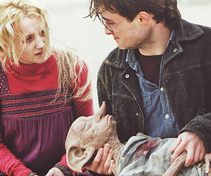 harry potter, luna lovegood, and dobby image