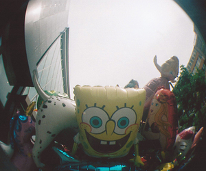 balloons, city, and fisheye image