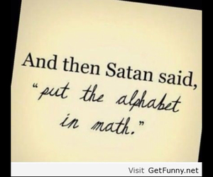 math, life, and satan image