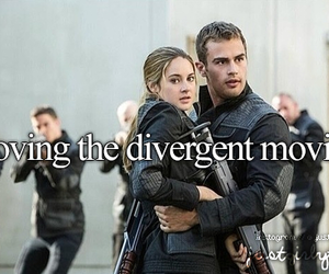 divergent, movie, and four image