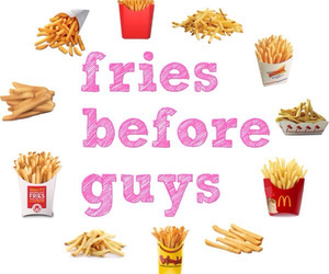 fries, guy, and food image