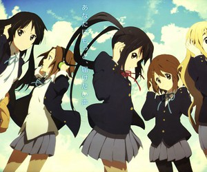 anime, k-on, and girls image
