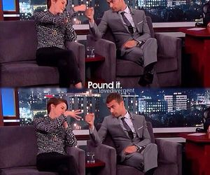 theo james, Shailene Woodley, and sheo image