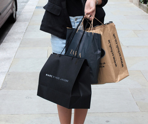 fashion, girl, and shopping image