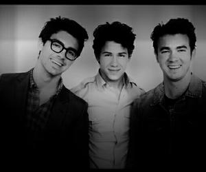 black and white, handsome, and Joe Jonas image