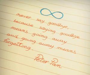 peter pan, disney, and goodbye image