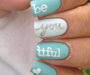 nails, beautiful, and blue image