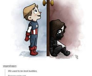 captain america, the winter soldier, and bucky barnes image