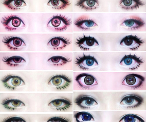 eyes, kawaii, and makeup image