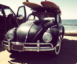 car, surf, and summer image