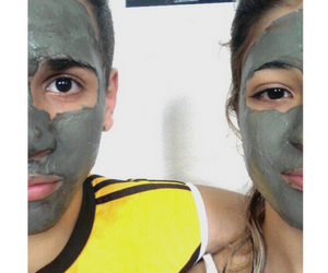 boyfriend, couples, and face mask image