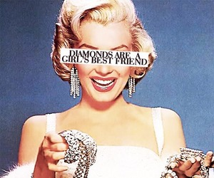 diamonds, Marilyn Monroe, and best friends image