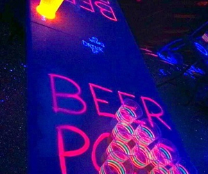 party, beer, and neon image