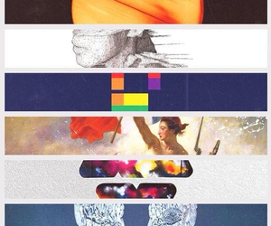 <3, coldplay, and music image