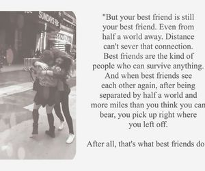 best friends, distance, and forever image