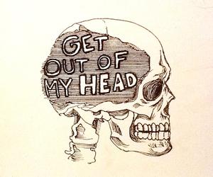 skull, head, and art image