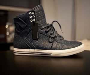 shoes, black, and supra image
