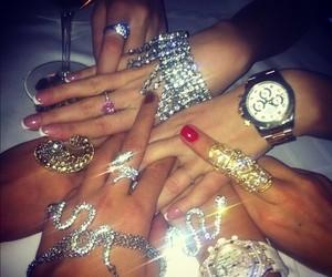 watch, diamond, and nails image