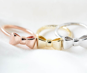 minimalist, bow ring, and unique ring image