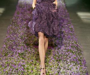 catwalk, dress, and fashion image