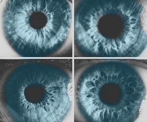 eyes, black and white, and eye image