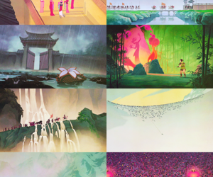 animation, blossom, and china image