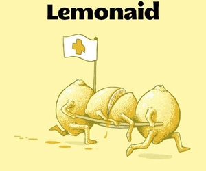 funny, lemonade, and lemon image