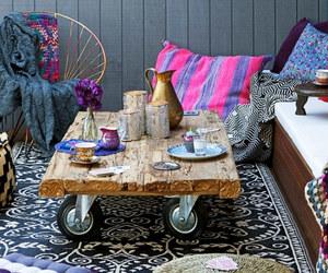 boho chic, boho decor, and bright &colorful image