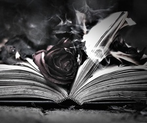 book, dark, and fire image